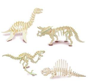 Quay Set Di Dinosauro 3 Woodcraft Kit Di Costruzione Fsc 0