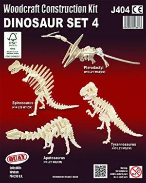 Quay Set Di Dinosauro 4 Woodcraft Kit Di Costruzione Fsc 0 0