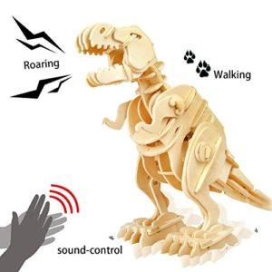 Robotime 3d De Puzzle En Bois Bois Craft Meilleur Anniversaire Puzzle Dinosaure Assembler Des Cadeaux De Nol Pour Les Enfants Walking T Rex 0