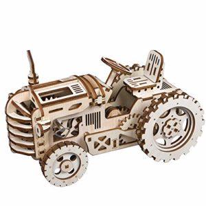 Robotime Puzzle 3d In Legno Tagliato A Laser Trattore Semovente Kit Modello Di Costruzione Regalo Creativo Per Uomo Tractor 0