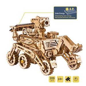 Robotime Solar Powered Stem Toys Taglio Laser Kit Modello Di Auto Robot Fai Da Te Puzzle In Legno 3d Et 14 Puzzle 3d Adulto Curiosity Rover 0