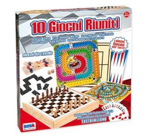 Rstoys 9566 Scatola Legno 10 Giochi Da Tavolo 0