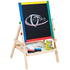 Tectake Lavagna Per Bambini 2 In 1 Lavagna Per Dipingere Lavagna Magnetica In Legno Compresi Accessori 0
