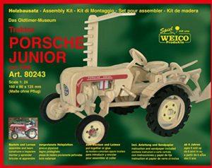 Weico Prodotti 80243 Modellino In Legno Trattore Porsche Junior Gioco Di Costruzioni 0