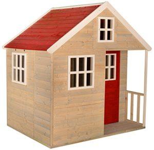 Wendi Toys Casetta Per Bambini In Legno Villa Nordica Per Giardino Giardino Tipo Chiuso Taglia L Casa Con Porta Piena Finestra In Perspex Ripiano Giocattolo 0