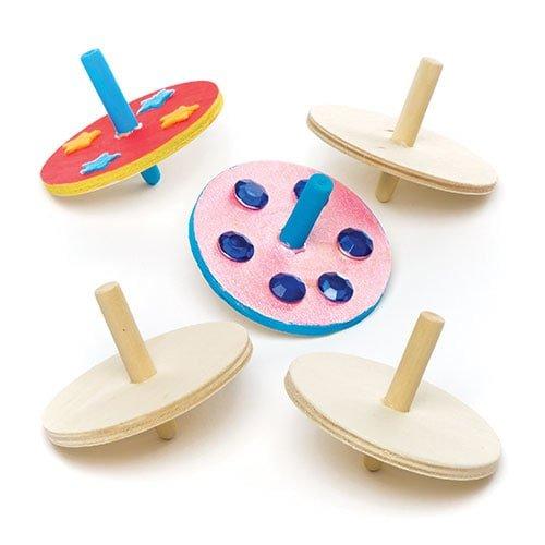 Baker Ross Trottole In Legno Per Bambini Sorpresine O Regali Per Bimbi Confezione Da 6 0