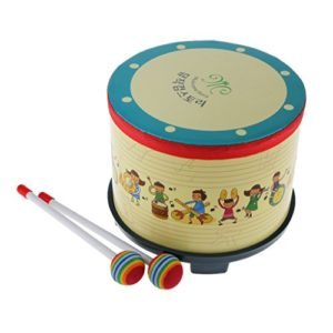 Bambini Bambino Ad Imparare A Tamburo Percussioni Gioco W Bacchette Colorate Battere Il Regalo Del Giocattolo 0