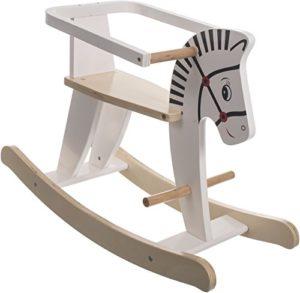 Bieco 74000210 Cavallo A Dondolo In Legno 68 X 265 X 48 Cm Bianco 0