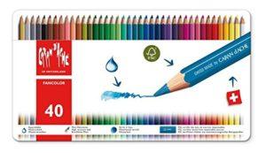 Caran Dache Fancolor 40 Pastelli Matite Colorate Con Scatola In Metallo 0
