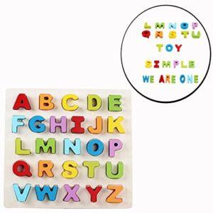 Cisixin Giocattolo Educativo In Legno Puzzle Alfabeto Con 26 Lettere 0
