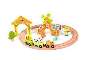 Classic World Primo Farm Yard Set Trenino In Legno Per Bambini 0