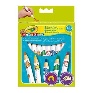 Crayola 3678 Mini Kids Matitoni Decorati Et 12 Mesi Per Asilo E Tempo Libero Colori Assortiti 8 Pezzi 0