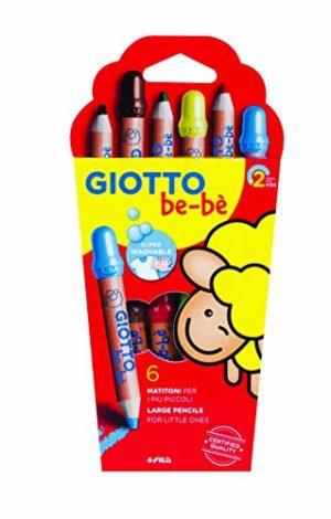 Giotto Beb 466400 Supermatitoni Astuccio 6 Colori Temperamatite 0
