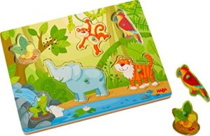 Haba Sounds Clutching Puzzle In The Jungle Peg Puzzle In Legno Per 2 Anni Con Suoni 303181 0