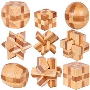 Holzsammlung Set Da 9 Rompicapo In Legno Gioco Di Cube 3d Puzzle Perfetto Regalo Di Natale Per I Tuoi Famiglia Taglia Piccola23 0