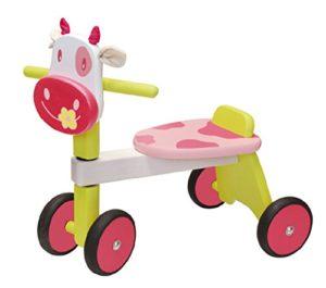 I M Toy Triciclo Per Bambino Animale In Legno Mucca Rosacavalcabili Giocattolo In Legno Prima Infanzia Im85010 0