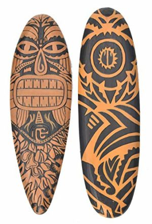 Interlifestyle Tavola Da Surf Maori Tribal 60 Cm Stile Tiki Hawaii 0