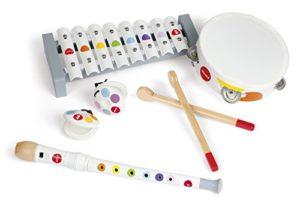 Janod Confetti Set Strumenti Musicale Di Legno Standard 4 Strumenti J07600 0