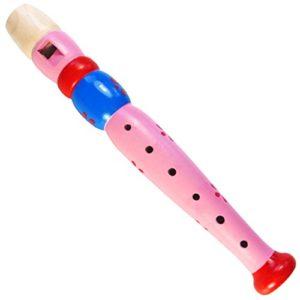 Keepdrum Kfl1pk Flauto In Legno Per Bambini Lilla Rosa 0