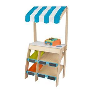 Kidkraft 53017 Piccolo Mercato Alimentare In Legno Per Bambini Play Grocery Store Giochi Di Imitazione Con Cibo Giocattolo E Accessori Inclusi 0