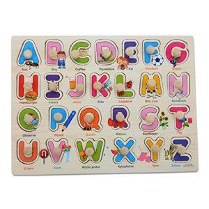 Legno Marquee Lettere Piolo Puzzle Board Moonvvin Facile Hold Puzzle Giocattolo Abc Per I Bambini In Et Prescolare 0