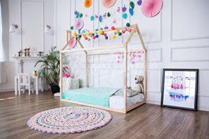 Letto Casa Montessori Per Materasso 190x90cm 0 0