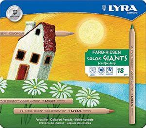 Lyra Color Giants Naturale In Confezione Di Metallo Da 18 Pastelli 0