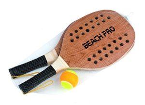 Mandelli Coppia Racchette Beach Tennis Pro Con Pallina Racchettoni In Legno 380 8003029203546 0