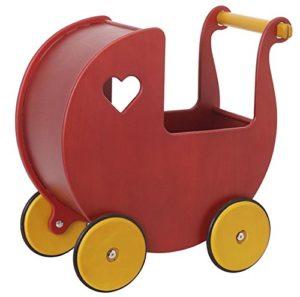 Moover Passeggino In Legno Rosso 0