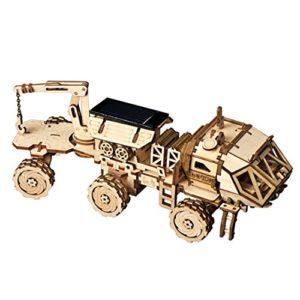 Rokr Energia Solare Giocattolo Set Stem Toys Kit Di Puzzle In Legno 3d Kit Di Costruzione Modello Meccanico Per Adolescenti E Adulti Hm Rover 0