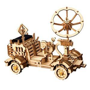 Rokr Energia Solare Giocattolo Set Stem Toys Kit Di Puzzle In Legno 3d Kit Di Costruzione Modello Meccanico Per Adolescenti E Adulti Moon Buggy 0
