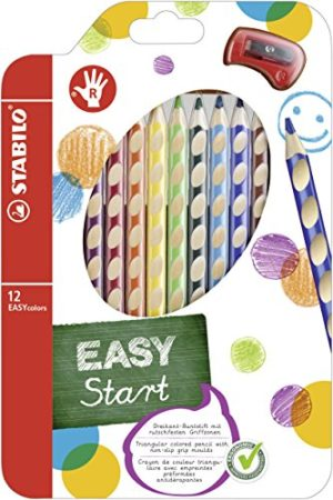 Stabilo Easycolors Matite Colorate Ergonomiche Per Destrimani Colori Assortiti Astuccio Da 12 0