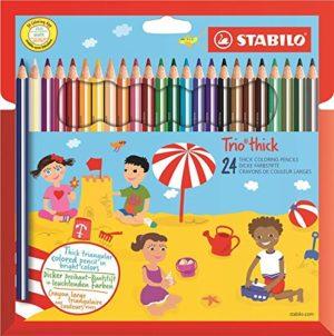 Stabilo Trio Maxi Matita Colorata Colori Assortiti Astuccio Da 24 0