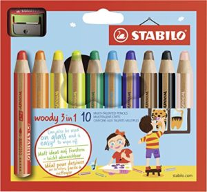 Stabilo Woody 3 In 1 Matitoni Colorati Temperino Astuccio Da 10 0
