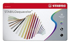 Stabilo Aquacolor Matita Colorata Acquarellabile Colori Assortiti Scatola Di Metallo Da 36 0
