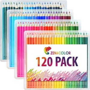 Set Di 120 Matite Colorate Da Zenacolor 120 Colori Unici Per Disegnare E Libri Da Colorare Adulti Facile Accesso Con 4 Vassoi Set Ideale Per Artisti Adulti E Bambini 0