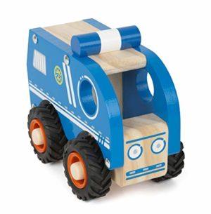 Small Foot Auto Della Polizia Legno Per Bambini Dai 18 Mesi Certificata Fsc Al 100 Grazie Alle Ruote Gommate Adatta Anche Al Gioco Allesterno Giocattoli Colore Blu 11077 0