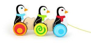 Small Foot Giocattolo Da Trainare In Legno Con 3 Pinguini In Fila Su Ruote 10637 0