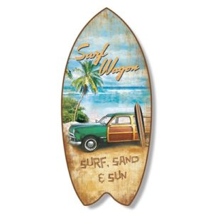 Tavola Da Surf In Pvcsurf Wagon Beach Coastal Wall Decor 0