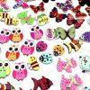Tomkity 200 Pezzi Bottoni Colorati Decorativi In Legno Bottoni Rotondi Animali Per Cucito E Lavorazione Fai Da Te 0 4
