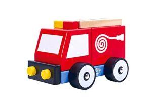 Tooky Toy Camion Dei Pompieri In Legno Per Bambini Dai 18 Mesi 0
