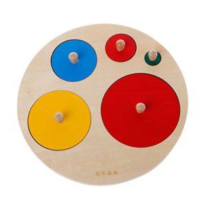 Zjl220 Montessori Forme Rotonde In Legno Apprendimento Educativo In Et Prescolare Per Bambini Giocattoli Per Bambini 0