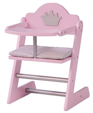 Roba Seggiolone Per Bambole Della Collezione Mobili Per Bambole Principessa Sophie Legno Laccato Rosaargento Con Stmpato Motivo Corona 0
