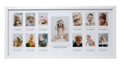 23 X 50 Cm Baby Cornice Portafoto Il Mio Primo Anno Galleria Fotografica Con Passepartout E 12 Foto Perforate Per Foto 5 X 7 Cm E 1 Foto 9 X 13 Cm Bianco 0