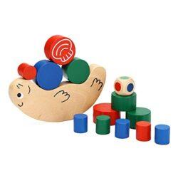 Bluelover Bambino Bambini Lumaca Equilibrio Gioco Legno Building Blocks Giocattoli 0