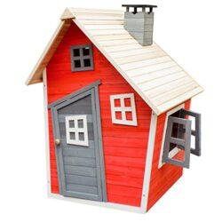 Casetta Giocattolo Ecologica Per Bambini In Legno Di Abete Rosso Casa Di Legno Giardino 0
