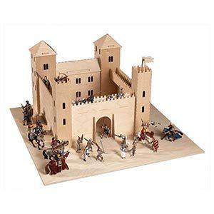 Castello e cavalieri giocattolo