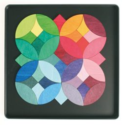 Circles Puzzle Magnete Dalla Betulla E Popal Legno Grimm 0