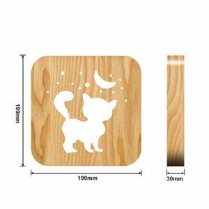 Cute Cat 3d Lampada Creativa Lampada Da Tavolo In Legno Usb Lampada Regalo Creativo Luci Notturne Per I Bambini Legno Baby Night Light 0 1