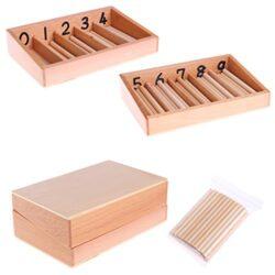 Dabixx Baby Education Toys Montessori Matematica Conteggio Mandrino Legno 45 Spindles Matematica Conteggio Giocattolo Educativo Color Legno 0